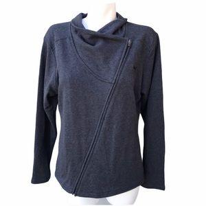 NWT Puma Asymmetrical Dark Gray Full Zip Jacket